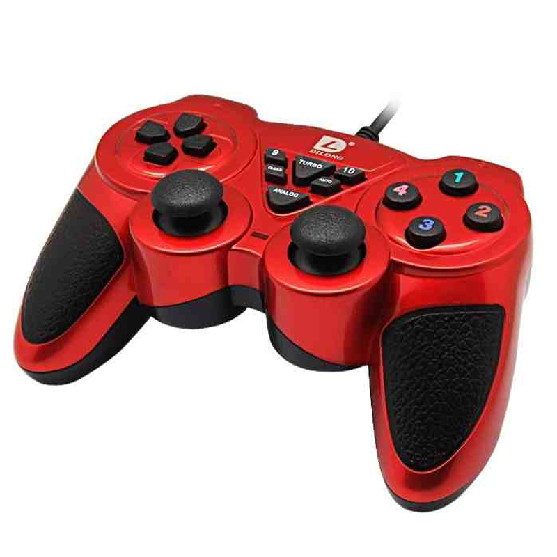 USB Double Shock Joystick GamePad Game Controller JoyPad for PC Computer Wired Gamepad Controller High Quality Free Shipping
