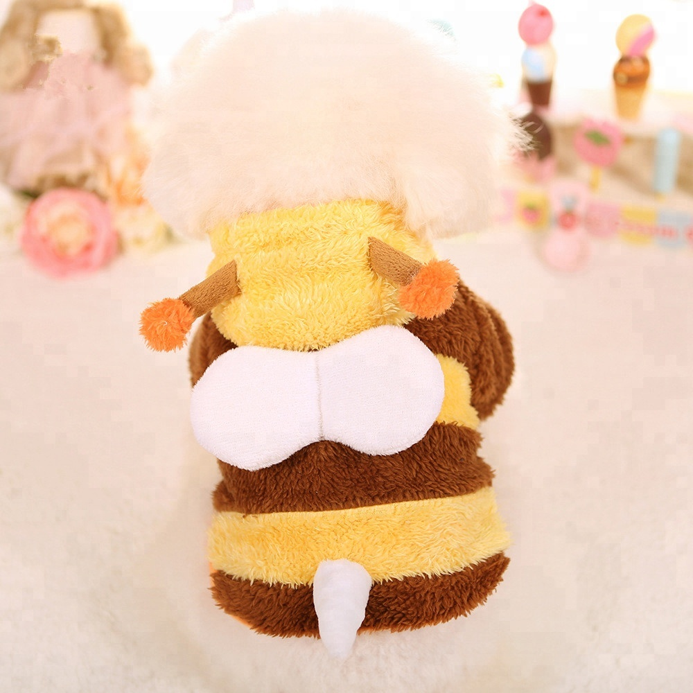 Cute design new arrive small bee yellow cotton pet warm clothes <strong>dog</strong>