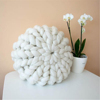Colors customized Knitted decorative stuffed round sofa and chair cushion, pillow, pouf