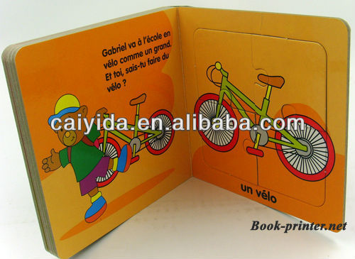 puzzle board book printing for kids
