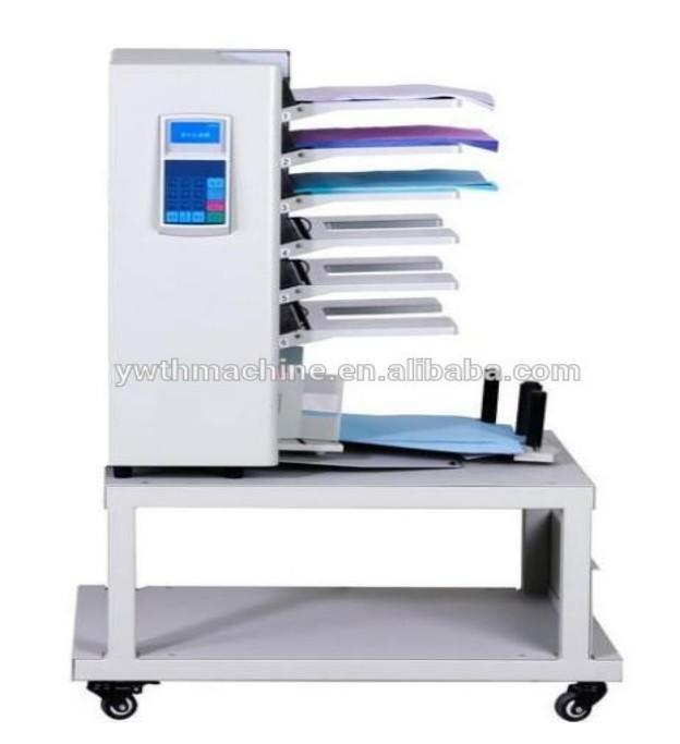 6 Trays Digital Paper Collating Machine With Table