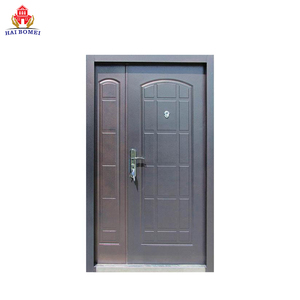 Home Exterior Steel Double Door With steel door frame