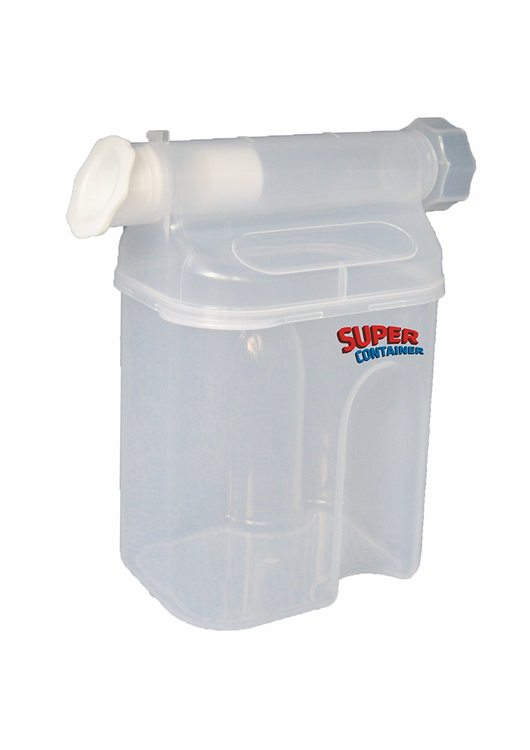 Dispenser Super Container Patented Useful for all powders and granulated products: Baby formula, cocoa, coffee, sugar, oatmeal. Keeps food fresh. compact, convenient, easy-­to-­use.
