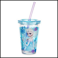 NEW Store Frozen Elsa Cold Cup Tumbler Milk Plastic Water straw cup,OEM plastic cartoon hot water milk cup suppliers factory