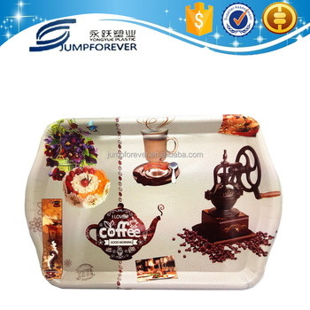 Cheap Coffee Decor Holder Promotion Gift Plastic Lunch Tray