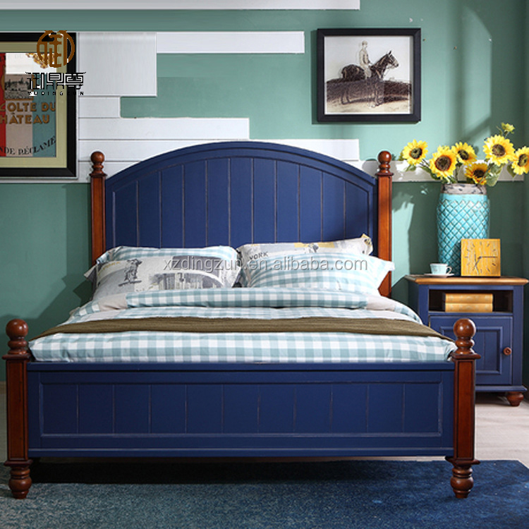 solid wood bed queen size for bedroom antique style