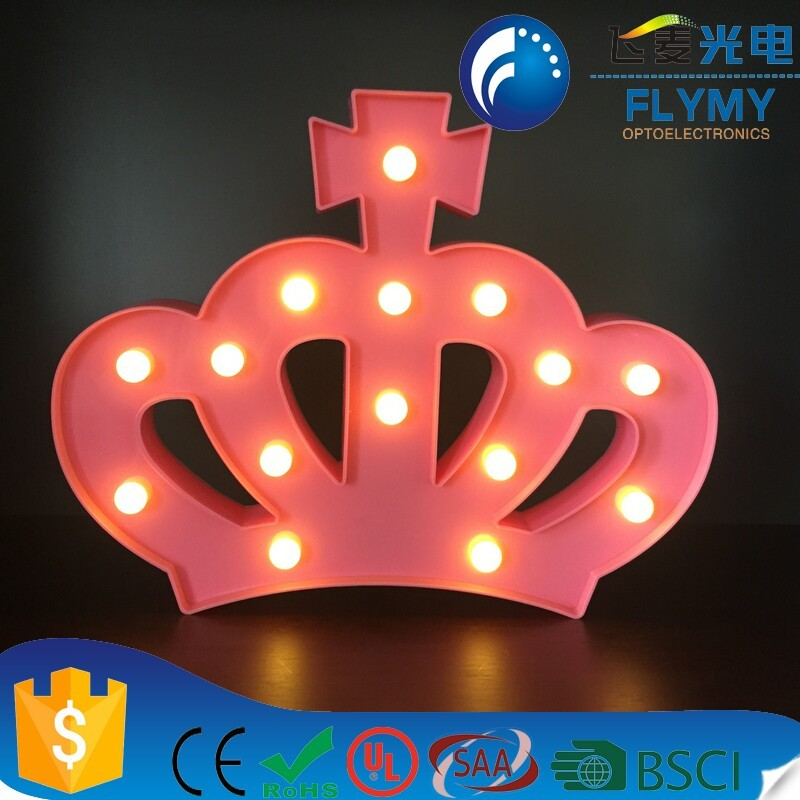 Queen Princess Kings Crown Marquee Sign Light Decoration for Bedroom, Nursery and Baby's Room(pink)