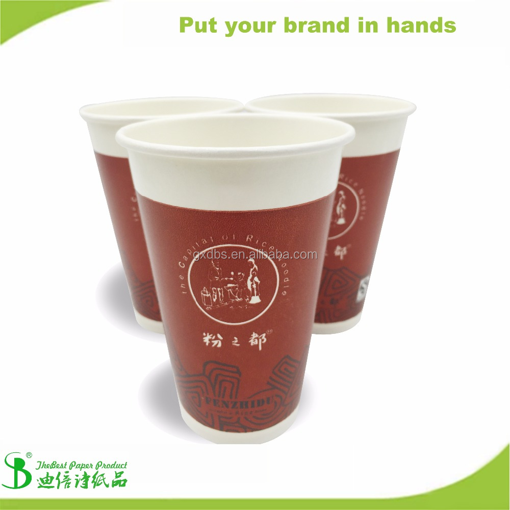 TheBest Price virgin wooden pulp hot drink cold drink commercial Cups disposable from guangxi