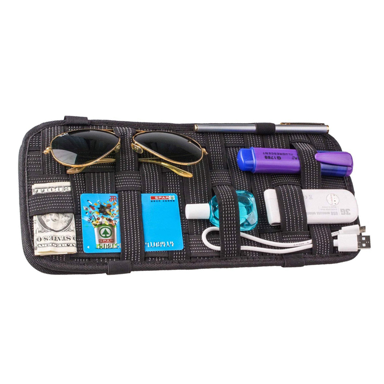 Innovation Anti-Rutsch-Elastik-Woven Board Auto Visier Organizer