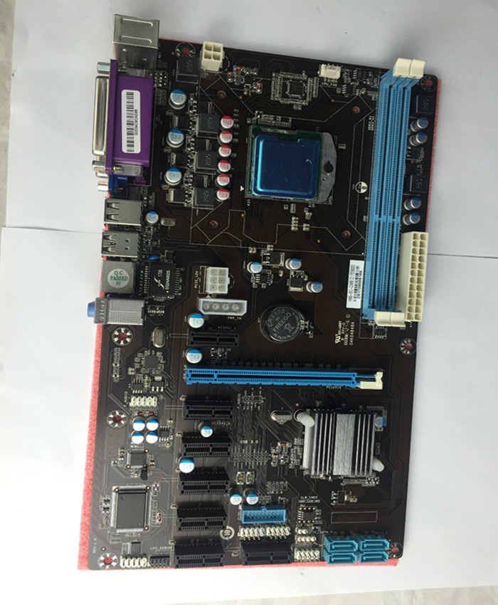Well selling mother board for ethreum BTC mining farm For hm65 8pcie with CPU motherboard