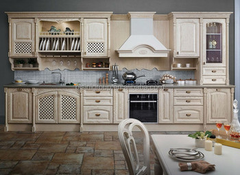 European Style Wood Kitchen CabinetVintage Cabinets DesignClassic Furniture Island