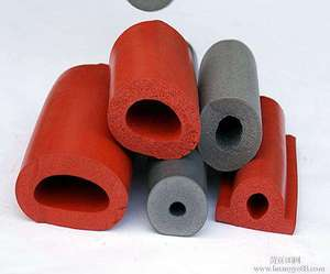 Custom Size High Heat Resistant Rubber pvc Square round Shape seal strip