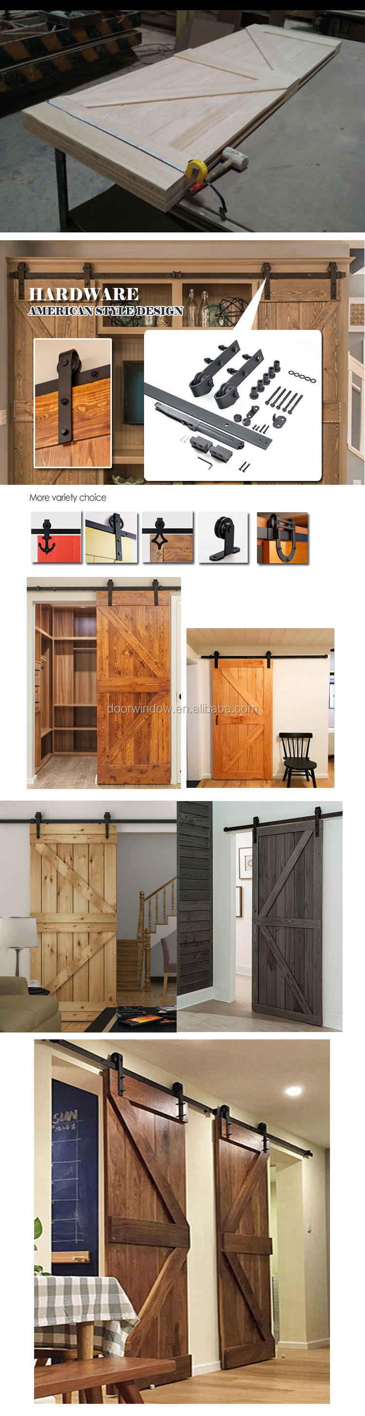 North central US OAK wood sliding door indoor doors for a house