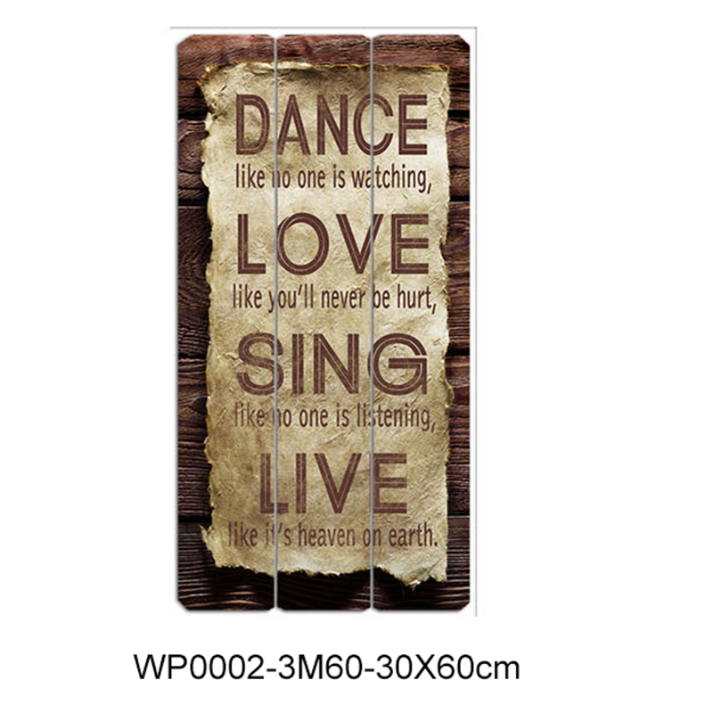 Wholesale rectangle mdf cheap personalized wooden plaques with sayings