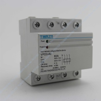 60a 380v Three Phase Four Wire Din Rail Automatic Recovery