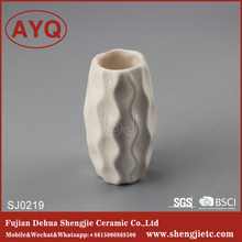 Popular cute white-glazed decorative ceramic vase for gift