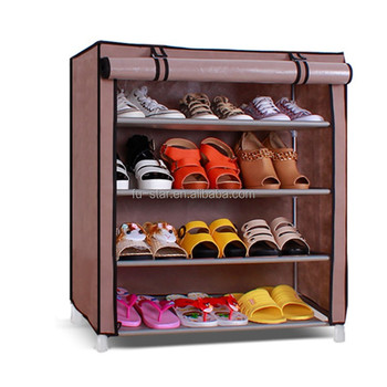 Housekeeping Shoe Storage Cabinet Metal Shoe Closet Plastic Connector Shoe  Rack