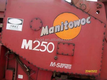 Used USA made Manitowoc M250 250T m18000 600t crawler crane used condition Manitowoc M250 250T 300t 500t 600t crawler crane