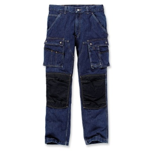 Navy Blue Factory Cargo Work Wear Pants For Men