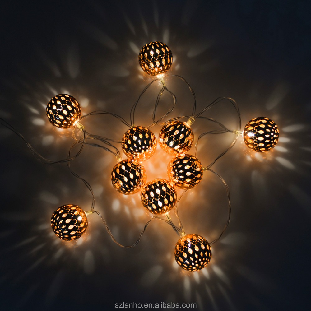 10 Led String Lights Metal Ball Led Fairy Lights Indoor Outdoor Christmas Wedding Party Decoration Battery Power Strip Lights Buy Metal Ball Led