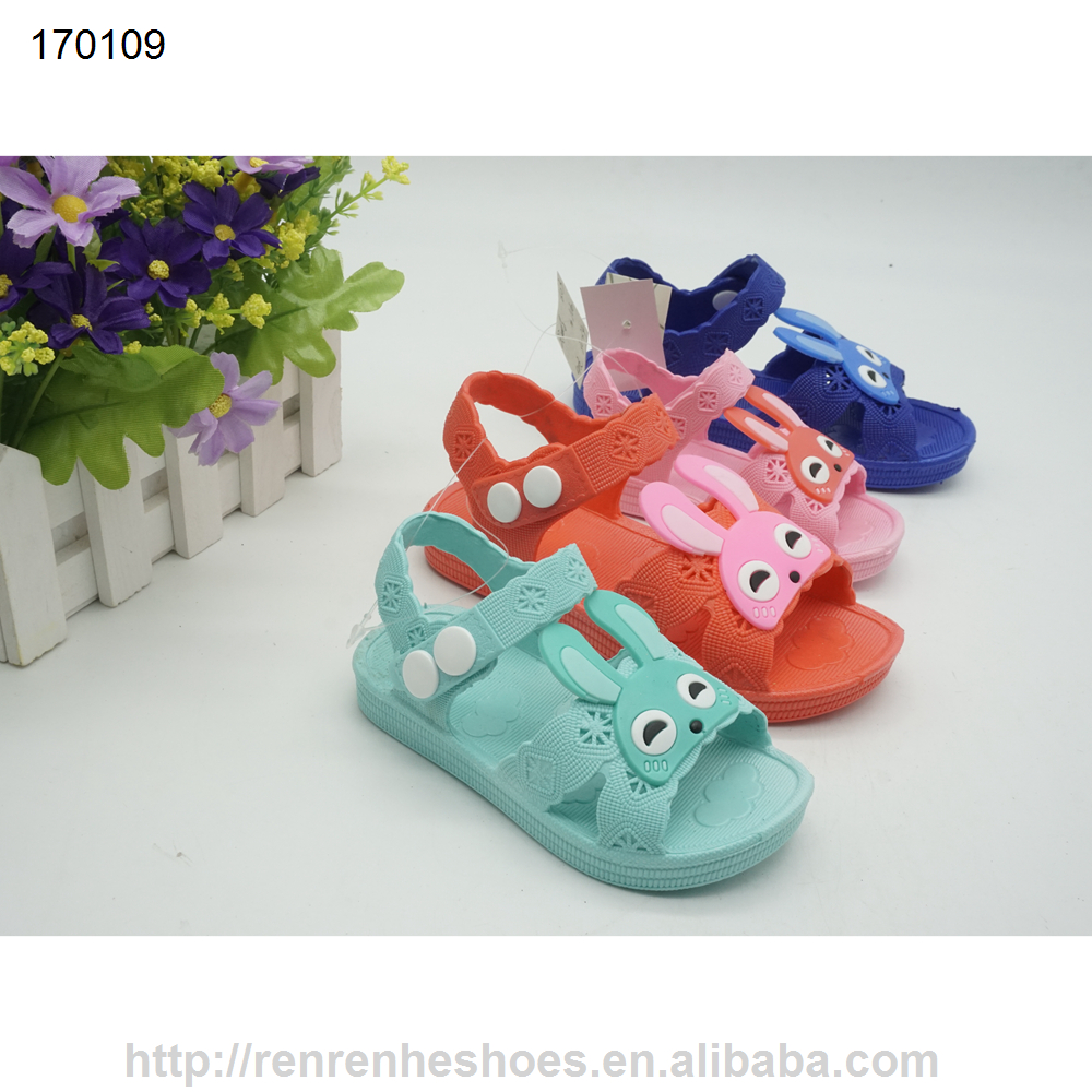 plastic pvc children sandals 2017 newest kids shoes