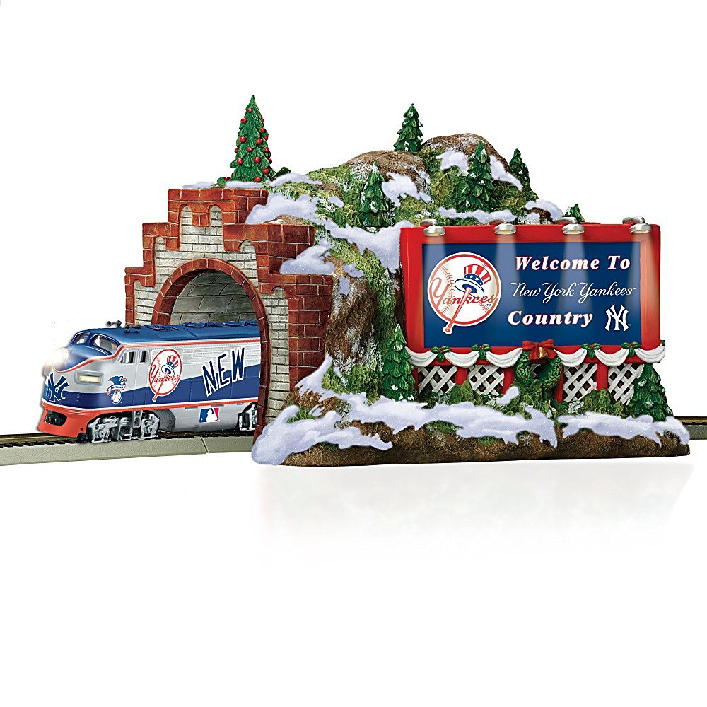 Train Accessory: MLB New York Yankees Christmas Mountain Tunnel by Hawthorne Village