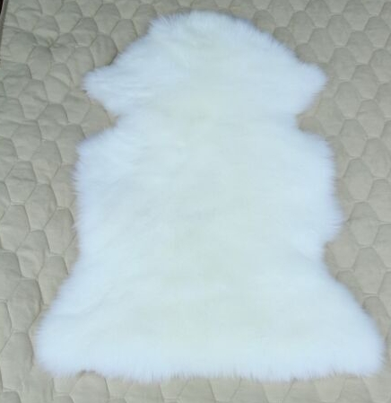 Wholesale Sheep skin Rug White Color Leather Carpet