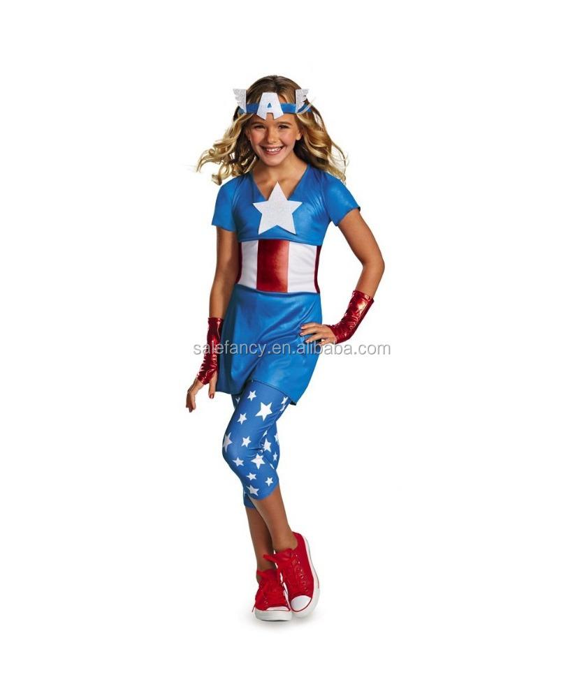 beautiful captain american costume dream girls teen kids child