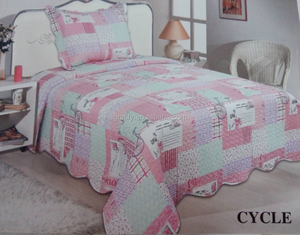 China factory imitation Patchwork Quilt printing cotton fabric bedding set