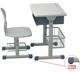 2014 cheap new design werzalit single /double school double desk and chair