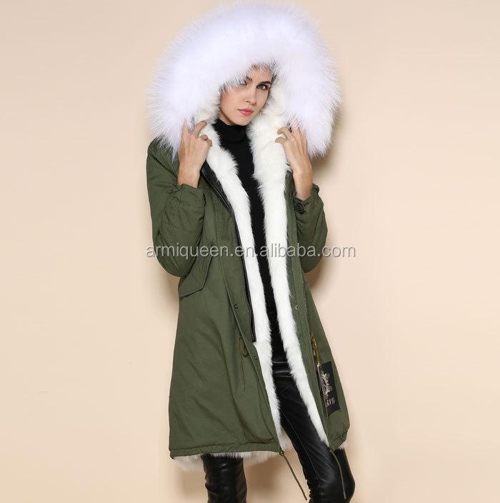 Manteau femme capuche fourrure renard