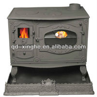 Modern cast iron stove with boiler