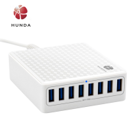 factory multi port usb charger 8 USB 5V 12A Power 60W 8 Ports Quick Multi Phone Charging Station