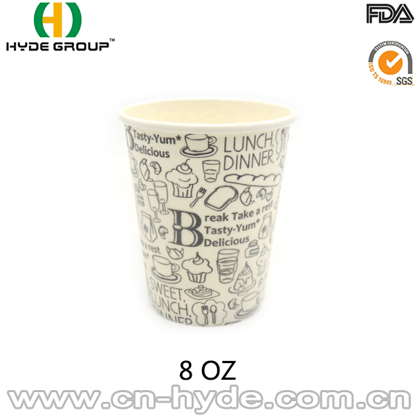 8oz Recycle Single Wall Foam Paper Cup For Hot Drink