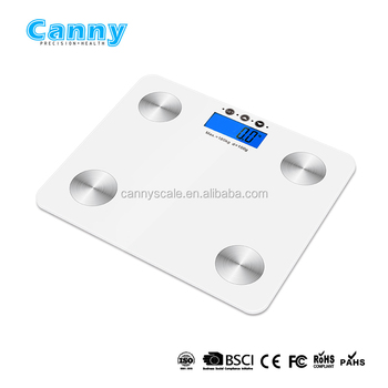 Bluetooth body fat scale smart scale measurement of body fat, water, muscle, bone, calorie, BMI and visceral fat