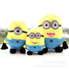 Soft yellow custom minion plush toy for sale
