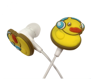 Duck earphones for promotion with funny logo for kids OEM designed package