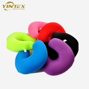 Plush Velvet covered foam filling wholesale cheap comfort neck round pillow cushion for travel