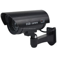 Security black CCTV False Outdoor CCD Camera Red LED Light Bullet proof Dummy Camera 11A