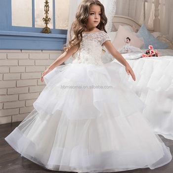 1e1d57325479 New hot white Ball Gown Flower Girl Abiti Prima Comunione Abiti Per Le  Ragazze abiti da