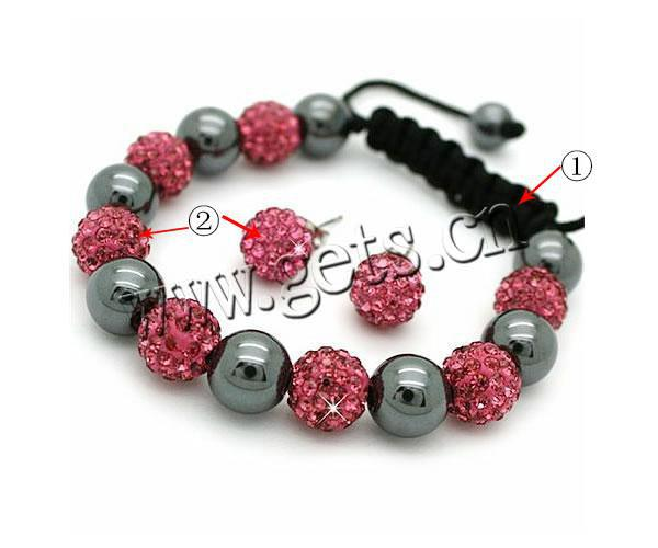 Gets.com Fashion Wax Cord Rhinestone Clay Pave Bead Hematite Jewelry Sets