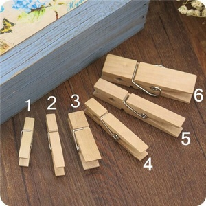 Hot Sale Natural Wooden Peg Clothespin Several Size Wooden Clips