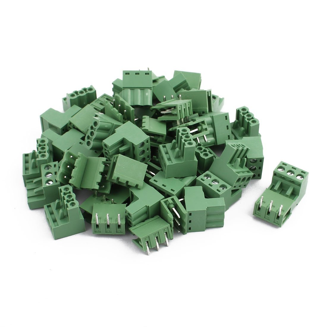 uxcell 28Pairs AC 300V 10A 3 Terminal 5.08mm Spacing PCB Screw Terminal Block Connector