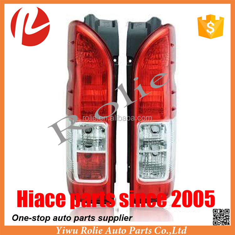 Toyota hiace 2014-2016 crystal red clear tail lamp with wire and bulb auto body parts 2005-2016