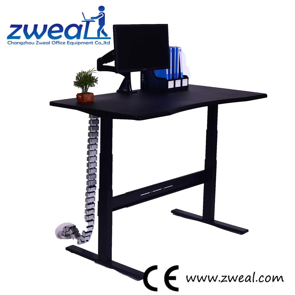 - Desk Standing Sitting Adjustable Height Folding Table Legs Modern