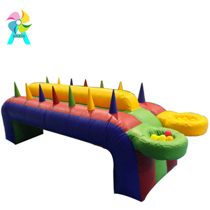 air juggler inflatable games for sale Team Building Game inflatable air flow race, air floating ball games, battling ball