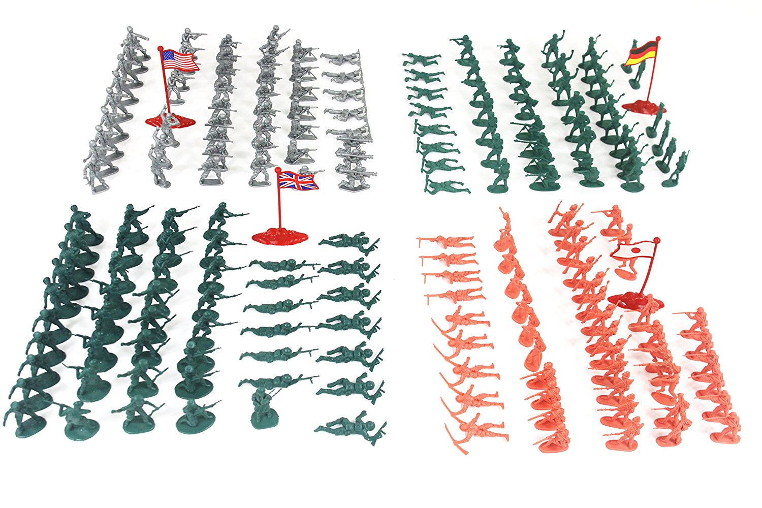Fun Little Toys Army Military Soldiers WW2 Combat Plastic Special Forces 200 Pc