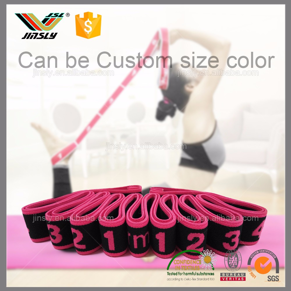 12 Fixed Loops Anti-slip Durable Yoga Strap Resistance Band for Flexible Physical Therapy Fitness Exercise Training