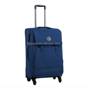 Factory Wholesale top quality Polyester luggage travel trolley luggage