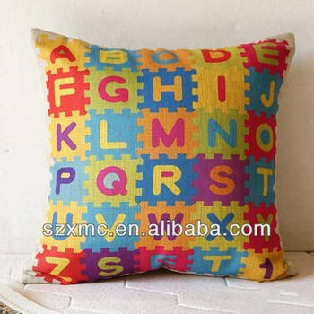 Colorful Free Alphabet Puzzle Pattern Design Baby/kids Floor Pillow ...